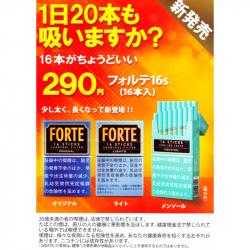 【全国どこでも!送料込み】【超人気】【10カートン+携帯灰皿セット】フォルテ オリジナル FORTE ORIGINAL